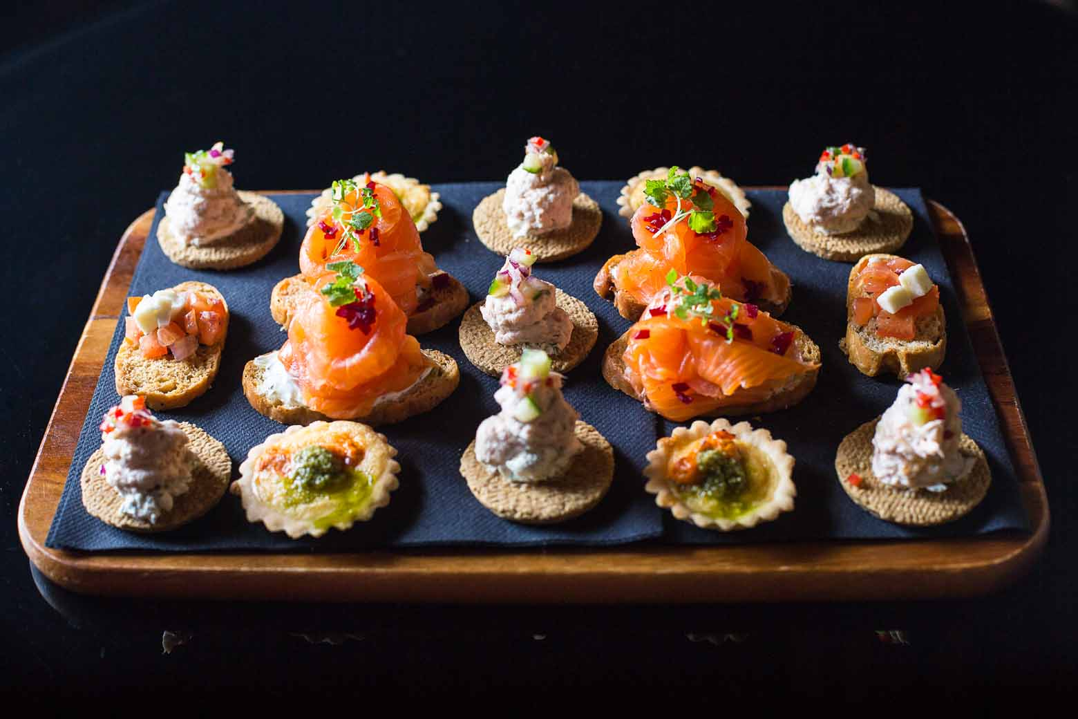 Canapes are popular at events.